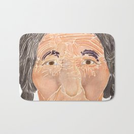 Face of a Nomad - White Bath Mat