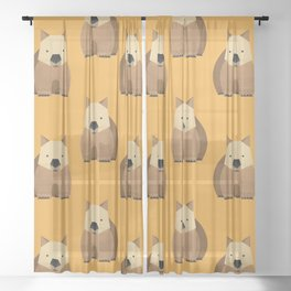 Whimsy Wombat Sheer Curtain