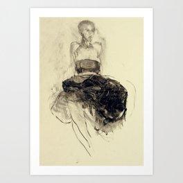 Hommage à Degas II Art Print