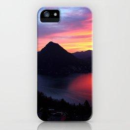 Sunset in Lugano iPhone Case