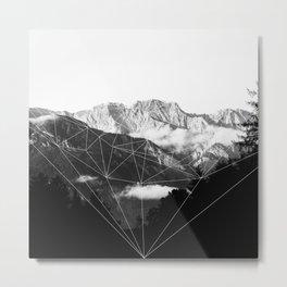 Crystal Mountain (black) Metal Print