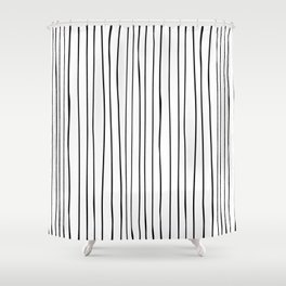 _ L I N E S Shower Curtain