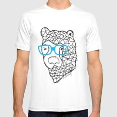 The Bear White MEDIUM Mens Fitted Tee