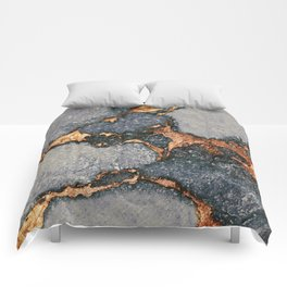 GEMSTONE GREY & GOLD Comforters