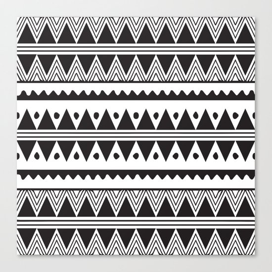 African Tribal Pattern No. 2 Canvas Print