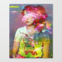 tchmo Canvas Prints featuring Untitled 20110314e (Dana) by tchmo