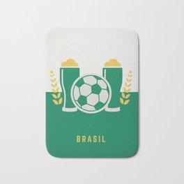 cerveja e futebol Bath Mat
