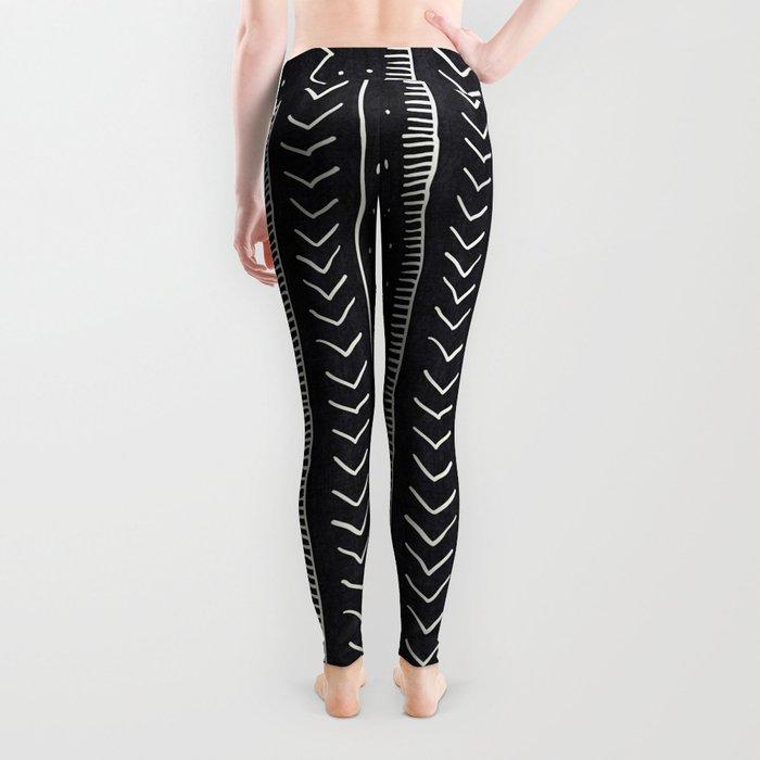 Moroccan Stripe in Black and White Leggings