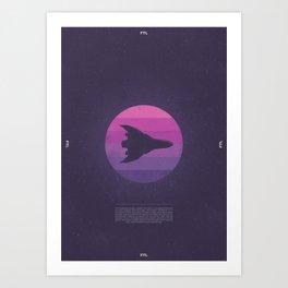 Faster Than Light - Stealth Cruiser Art Print