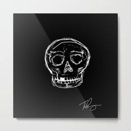Fratured Skull Metal Print