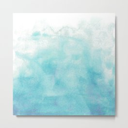 Blue watercolor Metal Print
