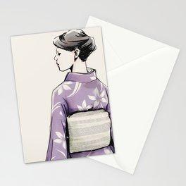 すみれ色の着物 Stationery Cards