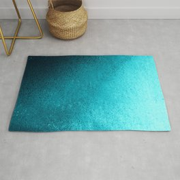 Modern abstract navy blue teal gradient Rug