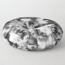 Black and White Tie Dye & Batik Floor Pillow