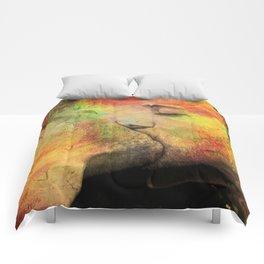 gay kiss Comforters
