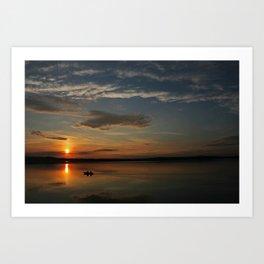 The midnight sun Art Print