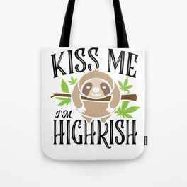 Sloth Weed Cannabis St. Patrick's Day Gift Tote Bag