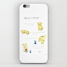 the lion  and the mouse. iPhone & iPod Skin