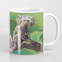psychadelic Mugs featuring Melanie's Marmoset by Distortion Art