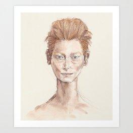 Tilda Swinton Inspiration Art Print