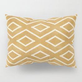Stitch Diamond Tribal in Gold Pillow Sham