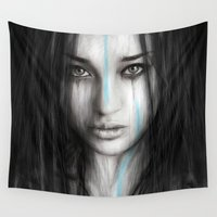 war Wall Tapestries featuring War Paint by Justin Gedak