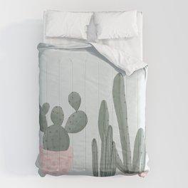 Soft Pastel Cacti Design Comforters