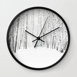 White Winter Day Wall Clock
