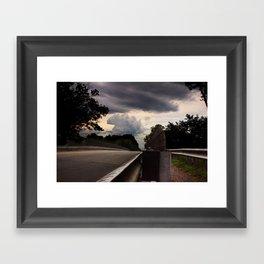 Stormy Road Framed Art Print