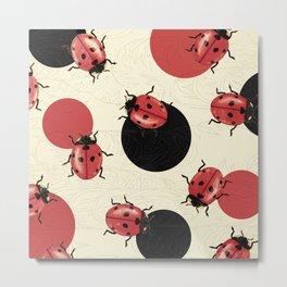 Ladybird Polka Metal Print