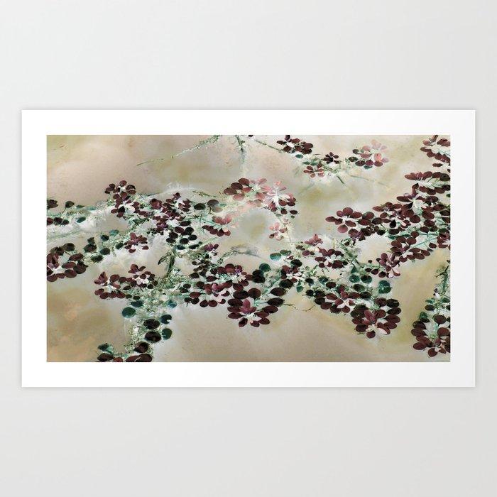"""Purple Floaters"" Art Print"