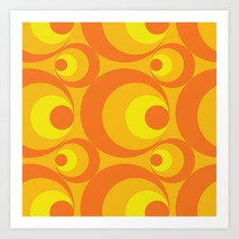 Crazy Orange Circles Art Print
