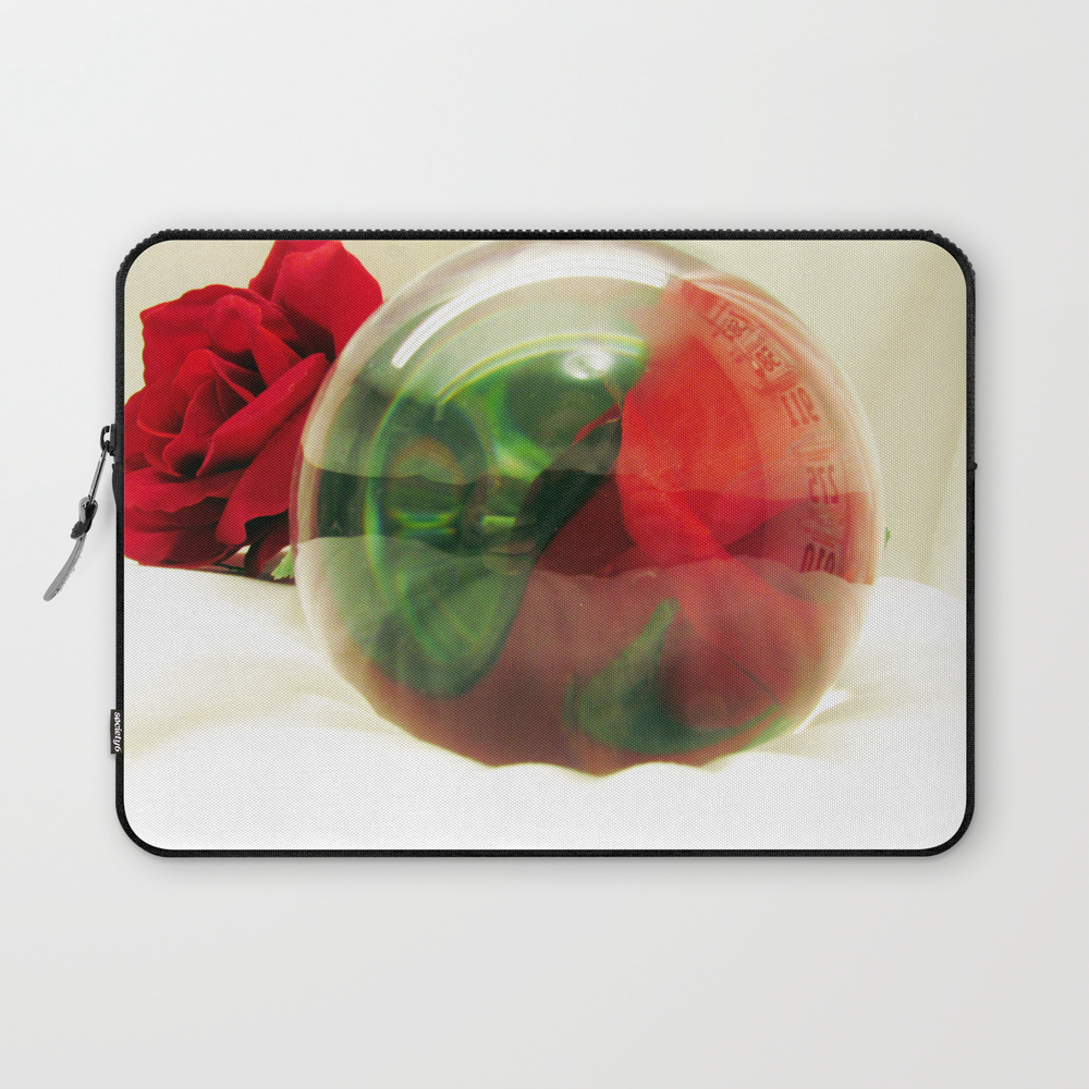 Red Roses Floral Visual Effect Art Photography Laptop Sleeve LSV8858809