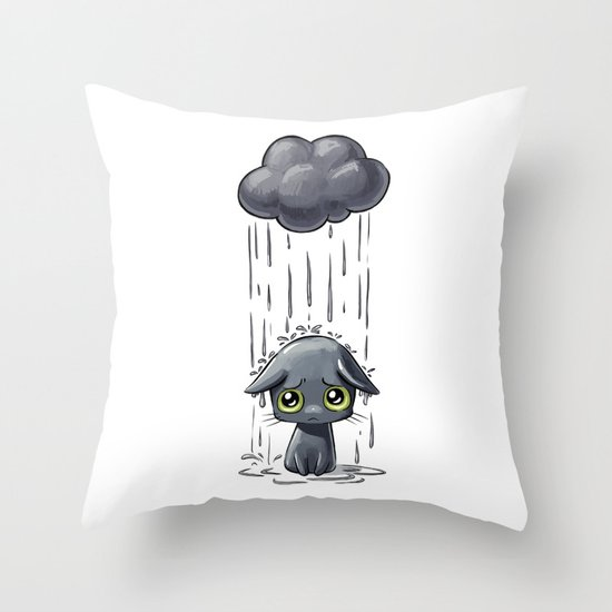 Pouring Throw Pillow