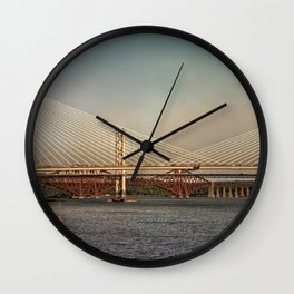 Three Bridges Over The Forth Wall Clock