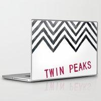 twin peaks Laptop & iPad Skins featuring Twin Peaks by BITN