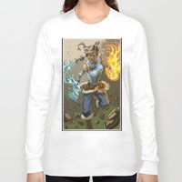 legend of korra Long Sleeve T-shirts featuring The Legend Of Korra by Fran Agostinelli