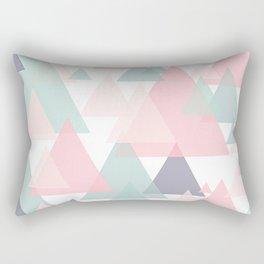 Abstract Pastel Mountains Rectangular Pillow