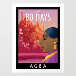 80 Days : Agra Art Print