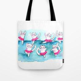 Cats dancing Tote Bag