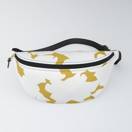 Yellow flowers silhouette - Yellow silhouette 001 Fanny Pack