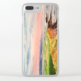 Pebble Beach Golf Course Hole 7 Clear iPhone Case