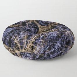 Blue Magical Wisps Floor Pillow