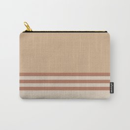 Cavern Clay SW 7701 and Creamy Off White SW7012 Horizontal Stripes on Ligonier Tan SW 7717 Carry-All Pouch