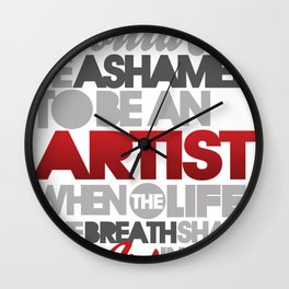I Am Artist Wall Clock