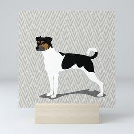 Roaring Brasilian Terrier by IxCO Mini Art Print