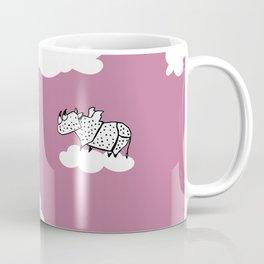 Flying Rhinoceros by Amanda Jones Coffee Mug