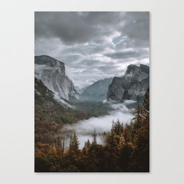 Misty Tunnel View Canvas Print