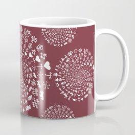 Merlot Love Symbol Mandala Coffee Mug