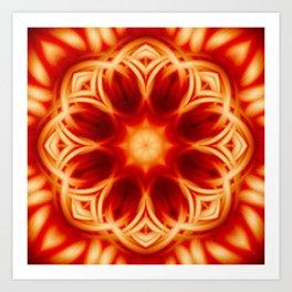 Fire Lotus Mandala Art Print